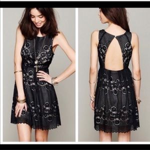 Free People Rocco Mini Dress 12 • Lace Open Back